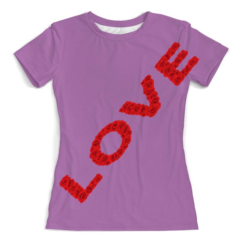 Printio Футболка с полной запечаткой (женская) Надпись-love printio футболка с полной запечаткой женская love love