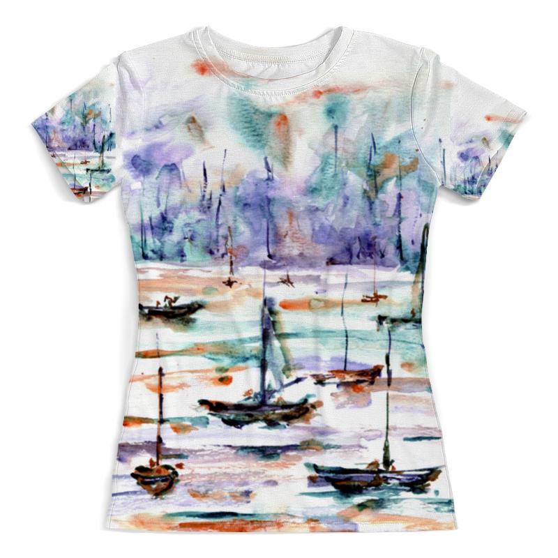 Printio Футболка с полной запечаткой (женская) Лодки абстракция