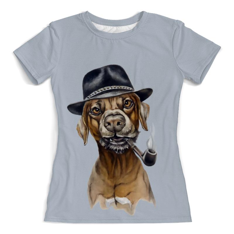 Фото - Printio Футболка с полной запечаткой (женская) Пес с трубкой printio футболка с полной запечаткой мужская пес с трубкой