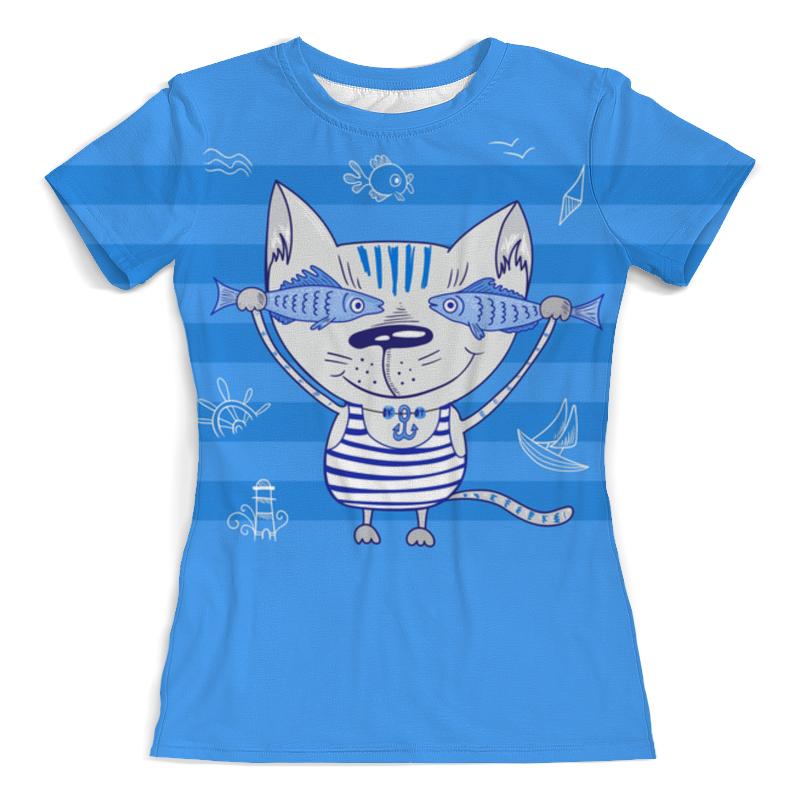 Фото - Printio Футболка с полной запечаткой (женская) Морской котик printio футболка с полной запечаткой женская котик с рыбками