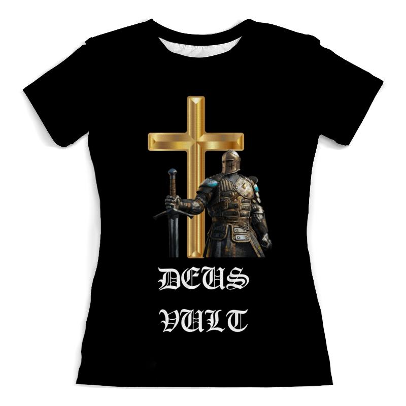 Printio Футболка с полной запечаткой (женская) Deus vult. крестоносцы printio свитшот мужской с полной запечаткой deus vult крестоносцы