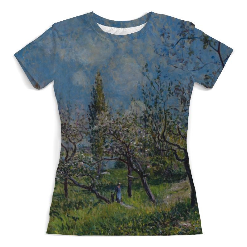 Printio Футболка с полной запечаткой (женская) Фруктовый сад весной (альфред сислей) printio тетрадь на скрепке фруктовый сад весной альфред сислей