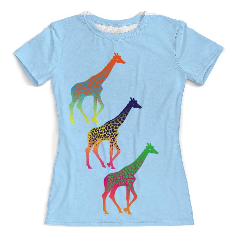Printio Футболка с полной запечаткой (женская) Три жирафа