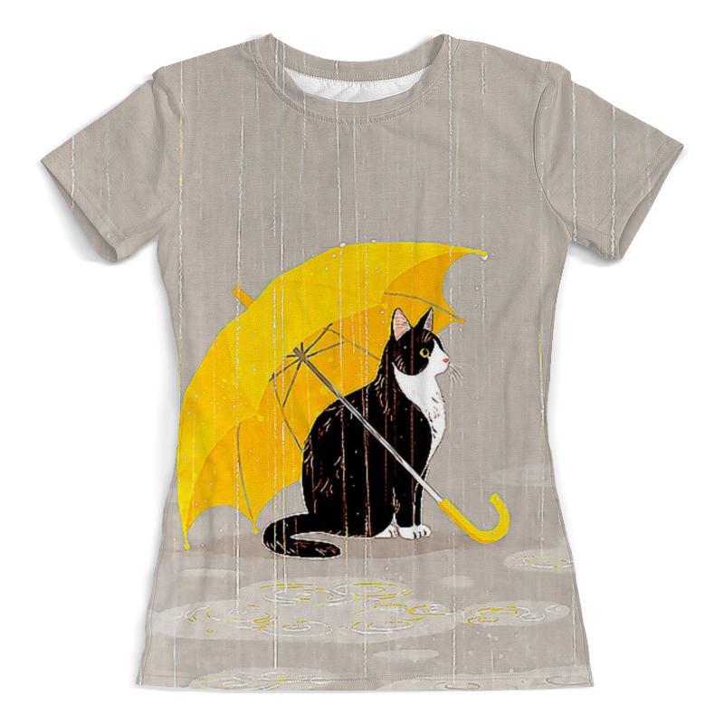 Фото - Printio Футболка с полной запечаткой (женская) Кошка осень printio футболка с полной запечаткой женская девушка кошка