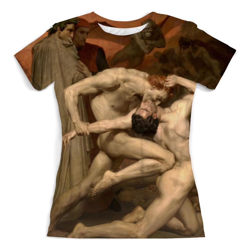 Printio Футболка с полной запечаткой (женская) Данте и вергилий в аду (вильям бугро)