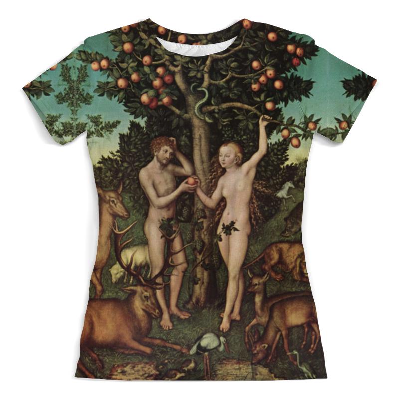 Printio Футболка с полной запечаткой (женская) Адам и ева (лукас кранах старший)