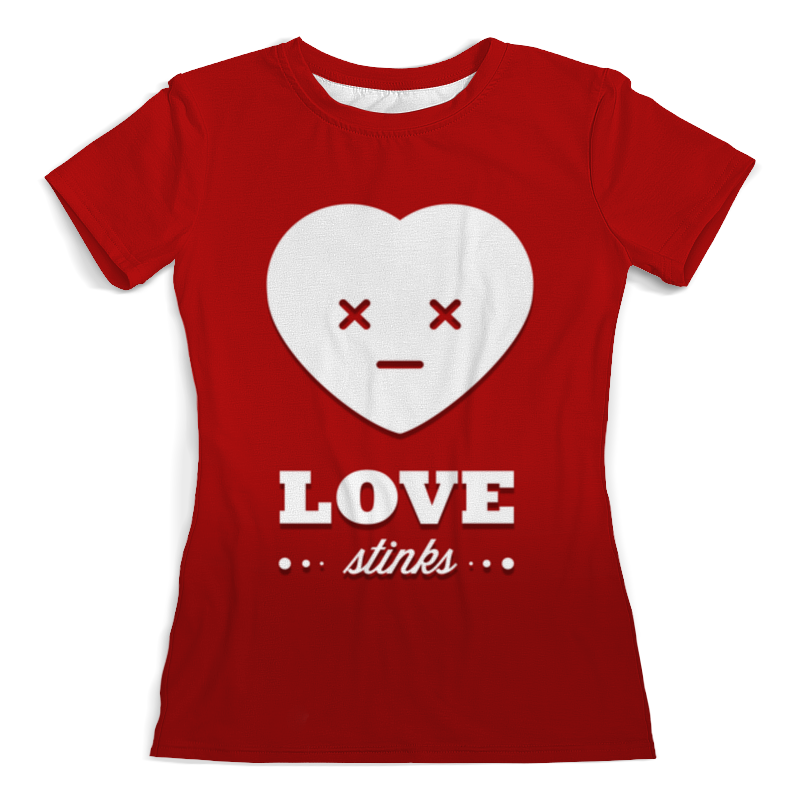 Printio Футболка с полной запечаткой (женская) Love stinks printio футболка с полной запечаткой женская love love