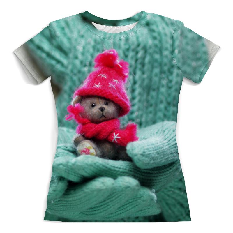 Printio Футболка с полной запечаткой (женская) Грустный медвежонок