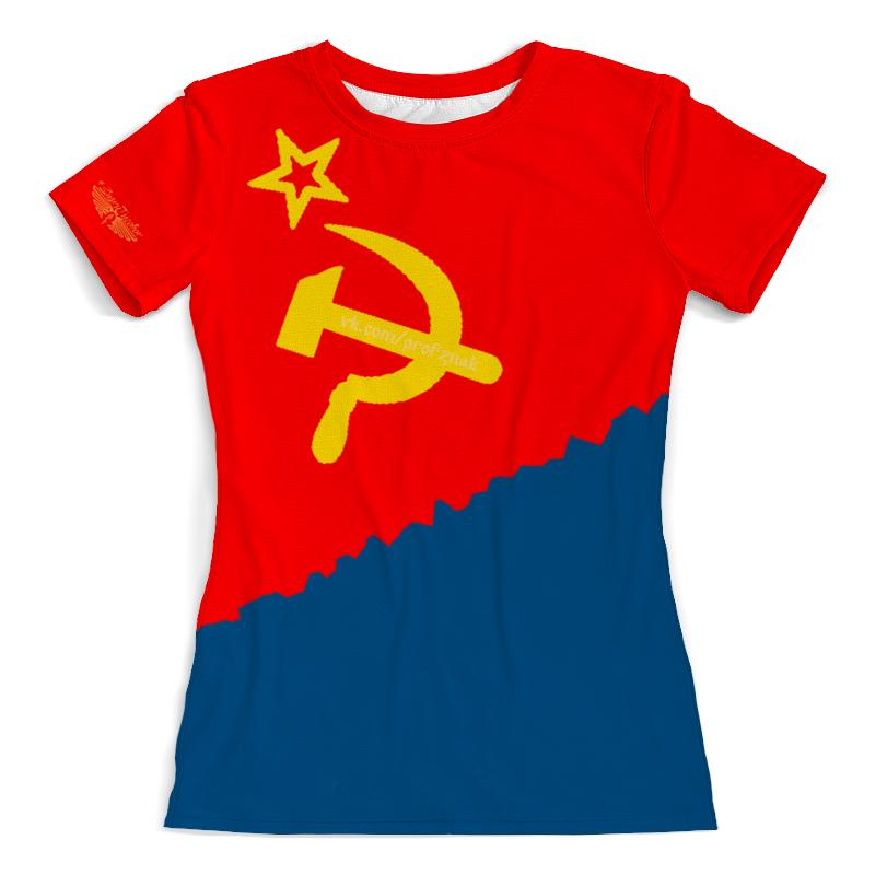 Printio Футболка с полной запечаткой (женская) Флаг украины (усср)