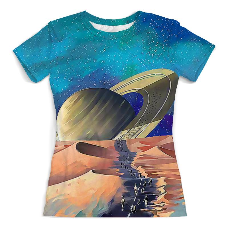 Printio Футболка с полной запечаткой (женская) Сатурн