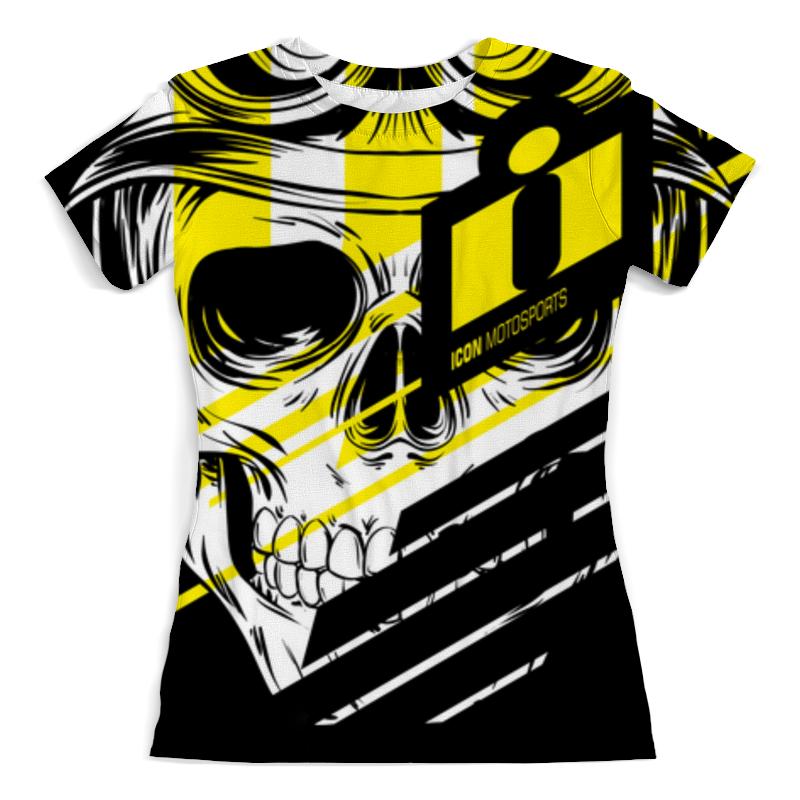 Printio Футболка с полной запечаткой (женская) Череп icon жёлтый футболка с полной запечаткой женская printio череп хищник