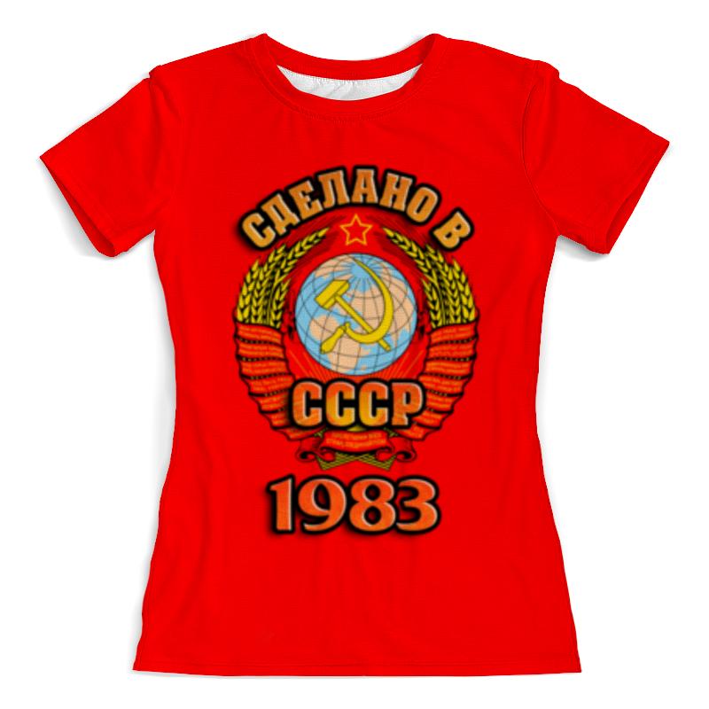 Printio Футболка с полной запечаткой (женская) Сделано в 1983 женская футболка 2015 cat 3d t 1983