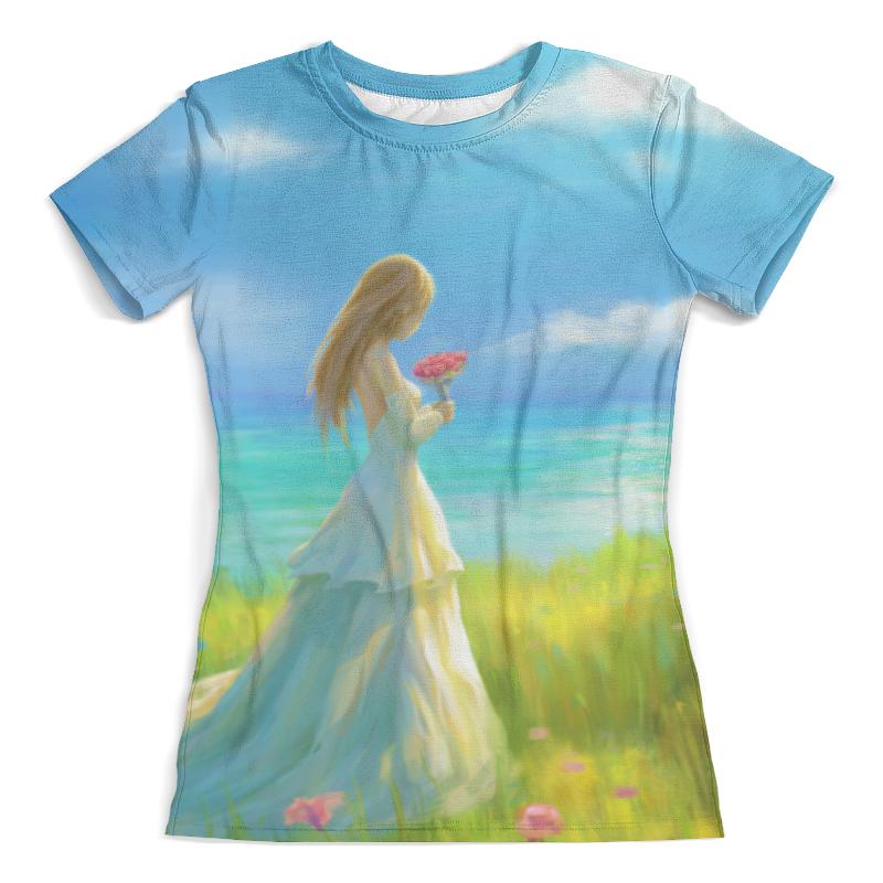 Фото - Printio Футболка с полной запечаткой (женская) Девушка с цветами printio футболка с полной запечаткой женская кашмир