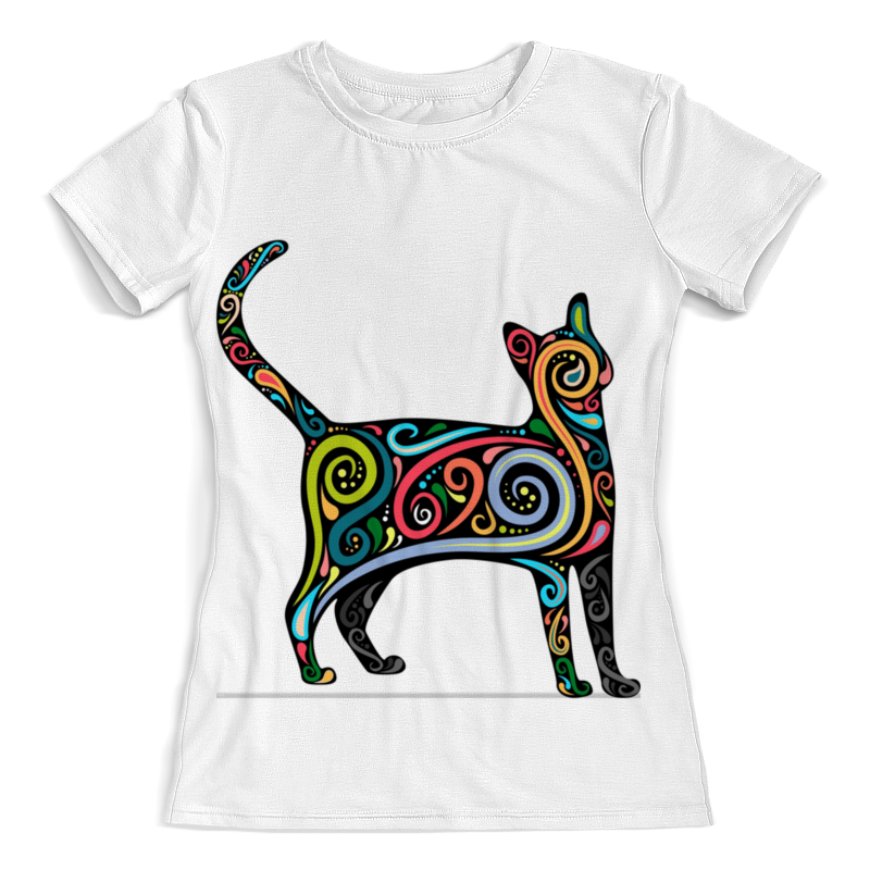 Printio Футболка с полной запечаткой (женская) Cat/ кошка женская футболка 2015 cat 3d t 1983