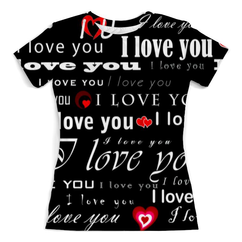 Printio Футболка с полной запечаткой (женская) Love you printio футболка с полной запечаткой женская love love