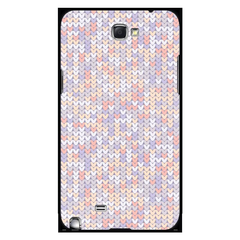 Printio Чехол для Samsung Galaxy Note 2 Сиреневый вязаный узор чехол