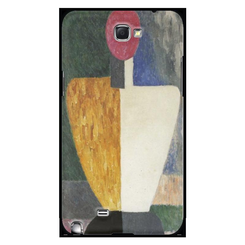 чехол для iphone 8 объёмная печать printio торс фигура с розовым лицом малевич Printio Чехол для Samsung Galaxy Note 2 Торс (фигура с розовым лицом) (малевич)