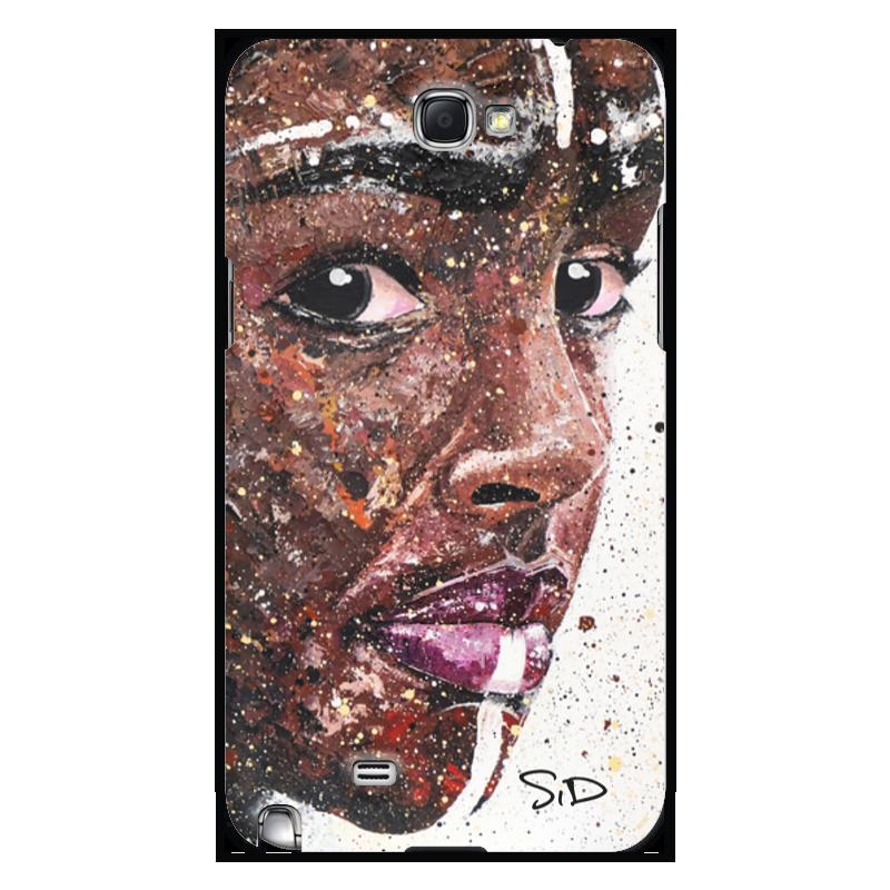 Printio Чехол для Samsung Galaxy Note 2 Эфиопка