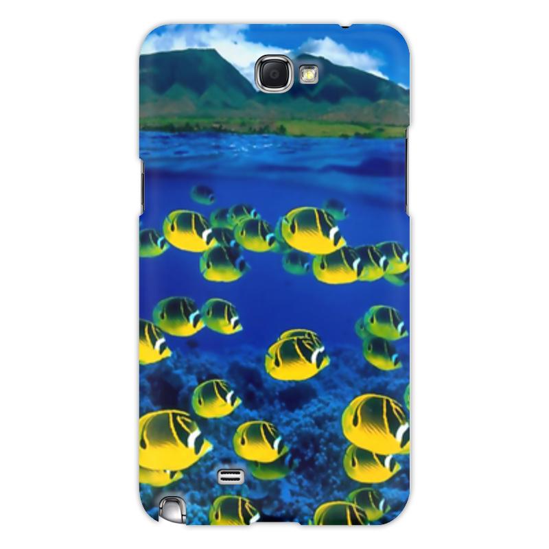 Printio Чехол для Samsung Galaxy Note 2 Морской риф чехол