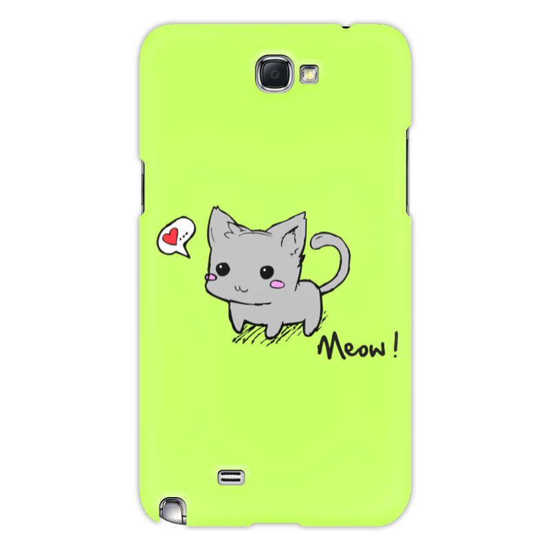 Printio Чехол для Samsung Galaxy Note 2 Котик мяу чехол