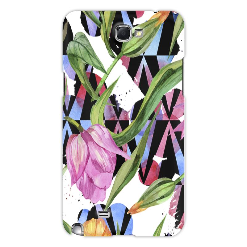 Printio Чехол для Samsung Galaxy Note 2 Тюльпаны чехол