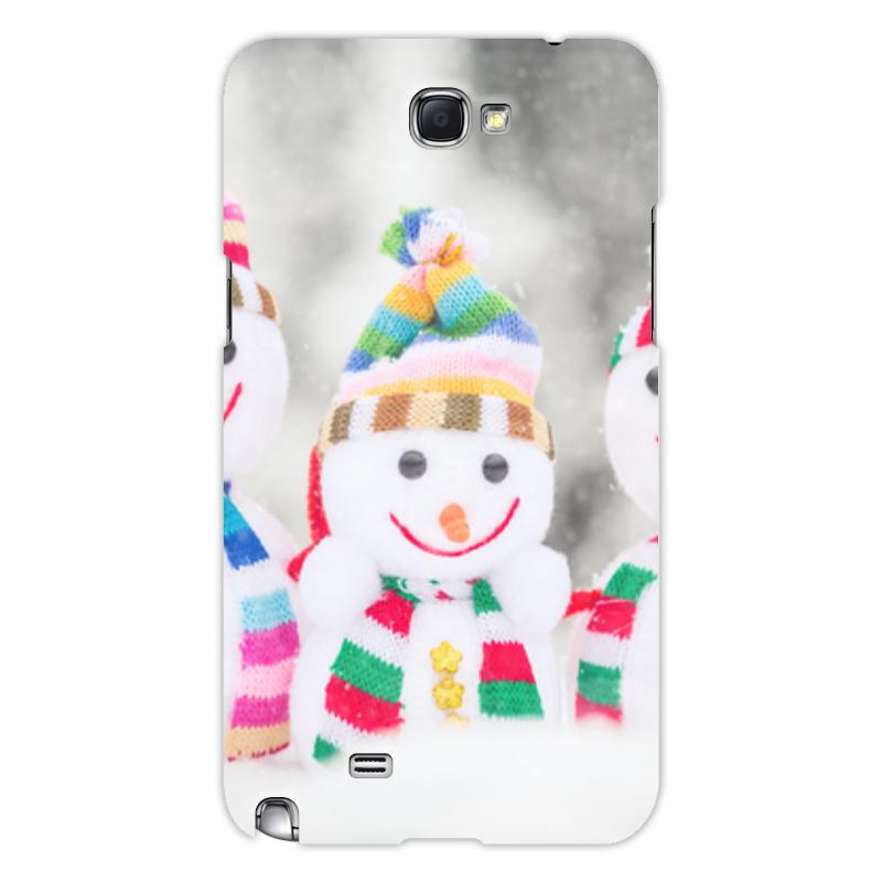 Printio Чехол для Samsung Galaxy Note 2 Снеговик чехол