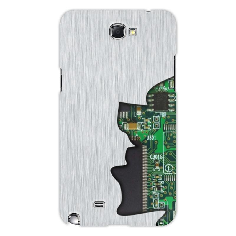 Printio Чехол для Samsung Galaxy Note 2 Внутренний мир телефона (микросхема).