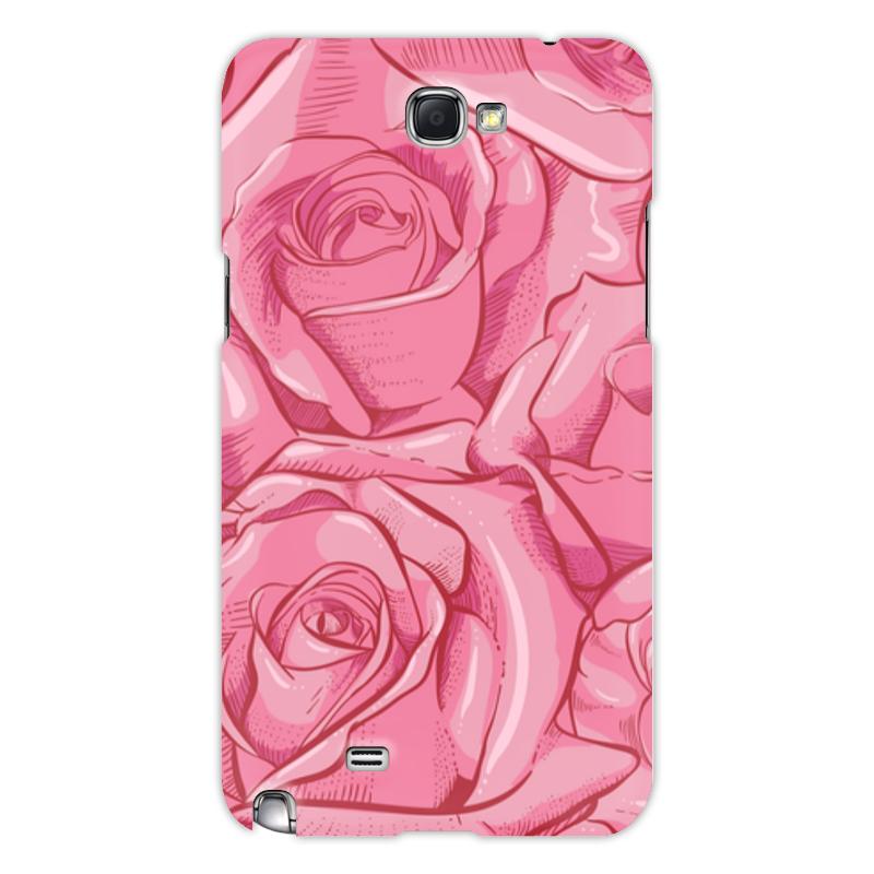 Printio Чехол для Samsung Galaxy Note 2 Цветы чехол