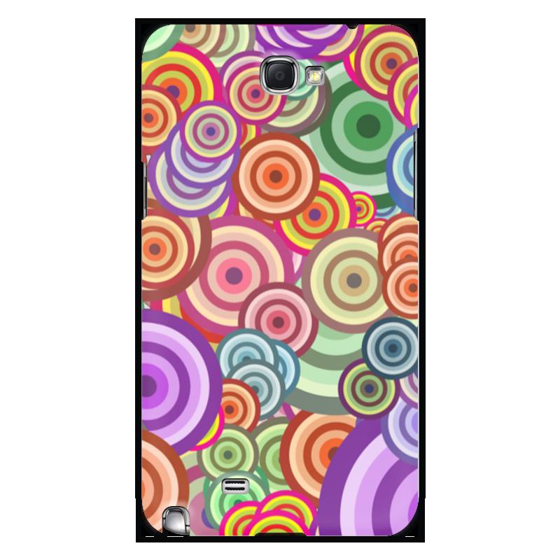 Printio Чехол для Samsung Galaxy Note 2 Цветные круги