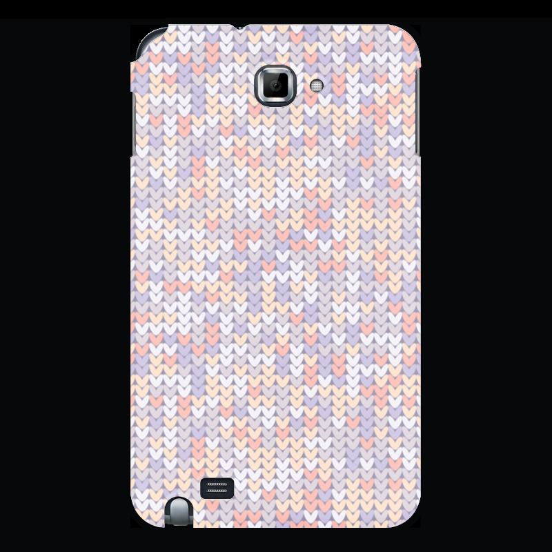 Printio Чехол для Samsung Galaxy Note Сиреневый вязаный узор чехол