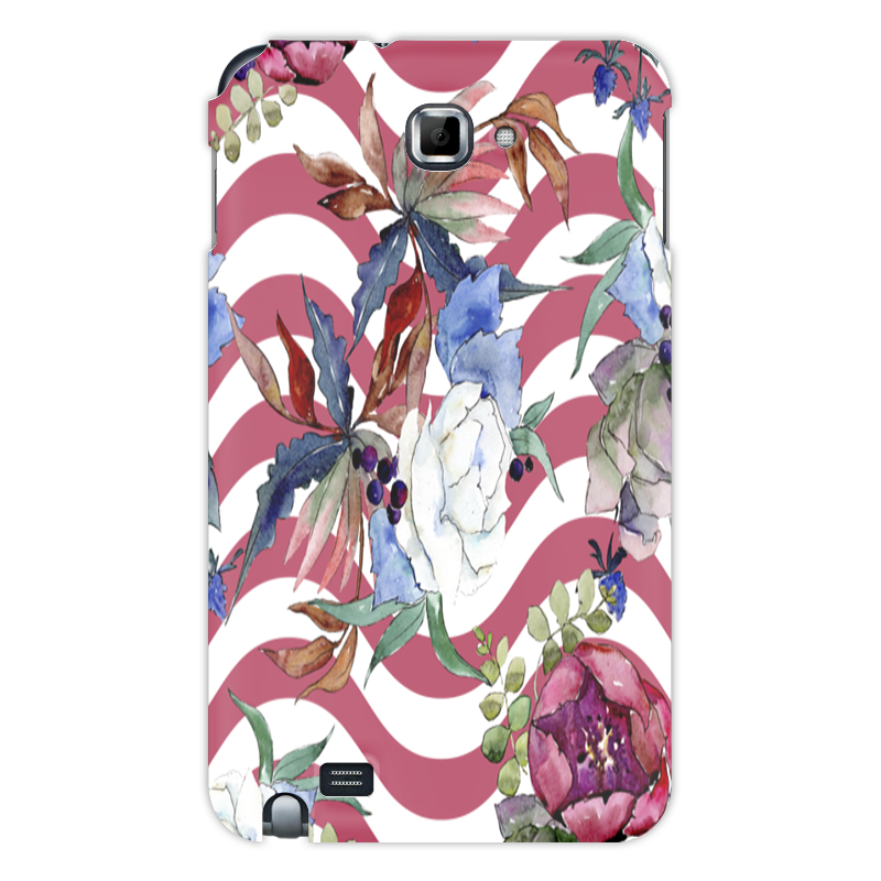 Printio Чехол для Samsung Galaxy Note Узор цветов чехол