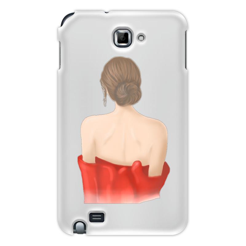 Printio Чехол для Samsung Galaxy Note Девушка в красном