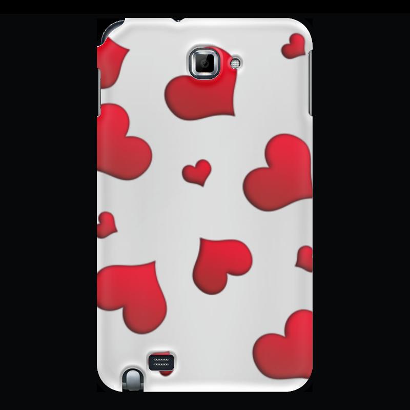 Printio Чехол для Samsung Galaxy Note Сердечки чехол