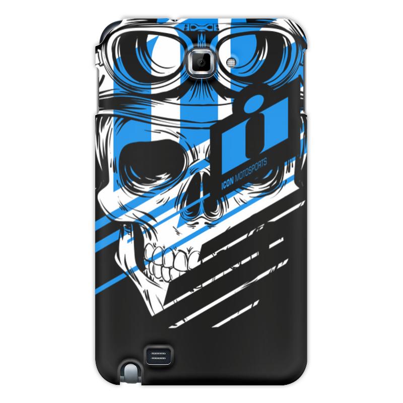 Printio Чехол для Samsung Galaxy Note Череп icon синий
