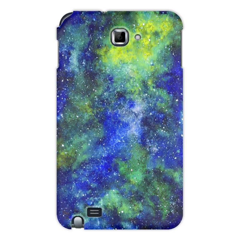 Printio Чехол для Samsung Galaxy Note Космос (сине-зеленый)