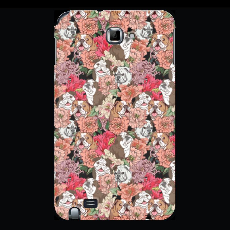 Фото - Printio Чехол для Samsung Galaxy Note Dogs and flowers printio чехол для samsung galaxy note fluxx