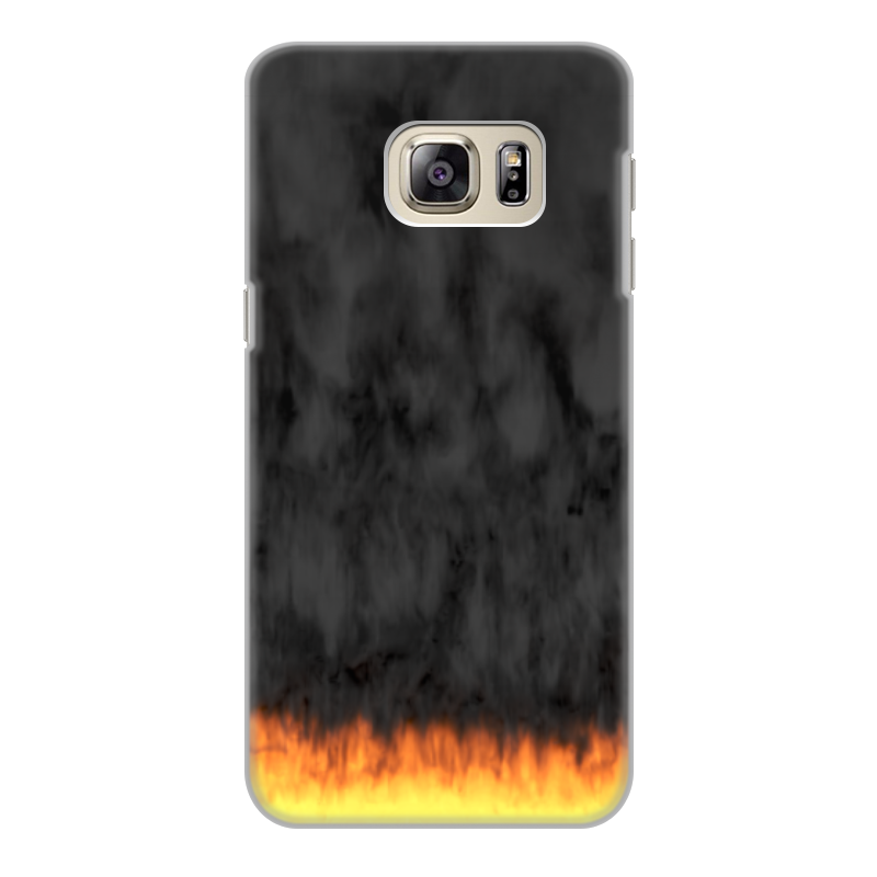 Printio Чехол для Samsung Galaxy S6 Edge, объёмная печать Пламя и дым printio чехол для samsung galaxy s8 plus объёмная печать пламя и дым