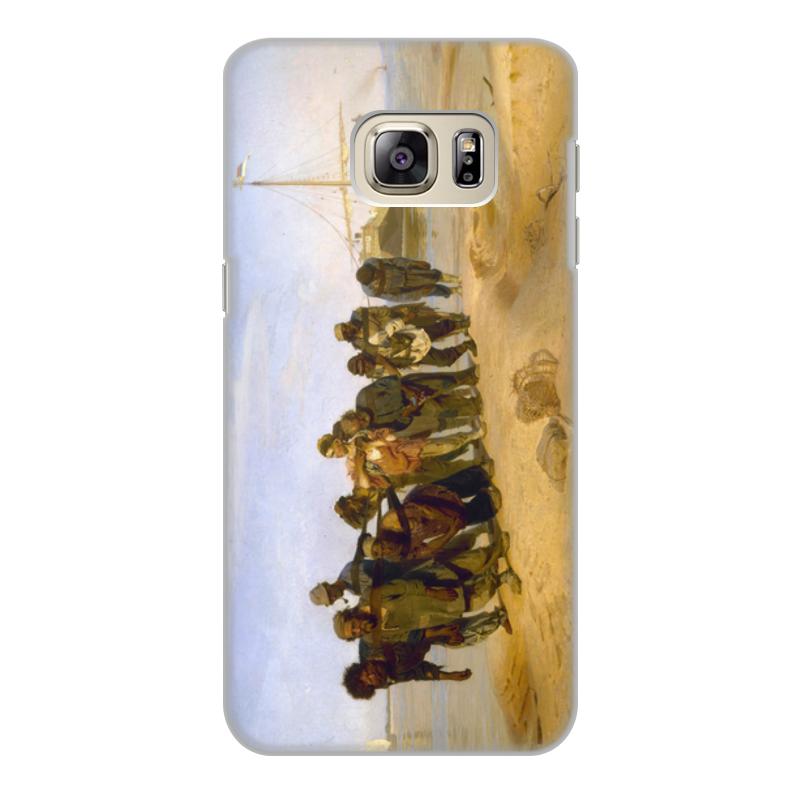 Printio Чехол для Samsung Galaxy S6 Edge, объёмная печать Бурлаки на волге (картина ильи репина)