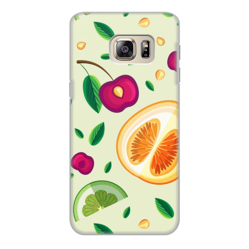 Printio Чехол для Samsung Galaxy S6 Edge, объёмная печать Фруктовый салат