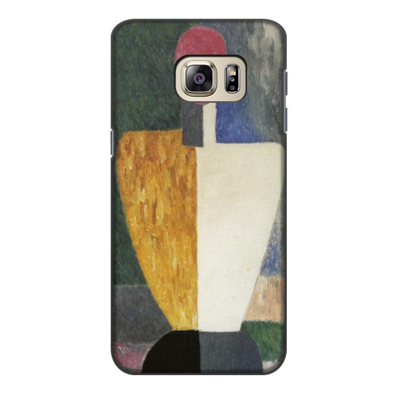 чехол для iphone 8 объёмная печать printio торс фигура с розовым лицом малевич Printio Чехол для Samsung Galaxy S6 Edge, объёмная печать Торс (фигура с розовым лицом) (малевич)