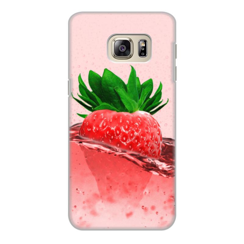 Фото - Printio Чехол для Samsung Galaxy S6 Edge, объёмная печать Клубничное настроение printio чехол для samsung galaxy s6 edge объёмная печать клубничное настроение