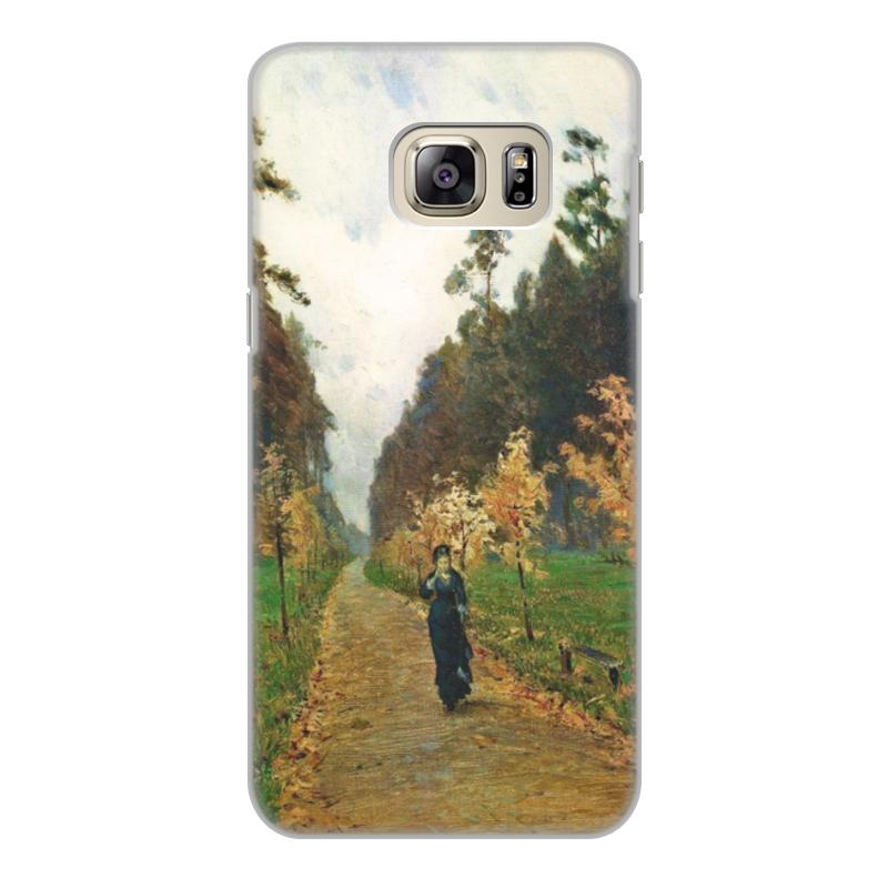 Printio Чехол для Samsung Galaxy S6 Edge, объёмная печать Осенний день. сокольники (левитан)