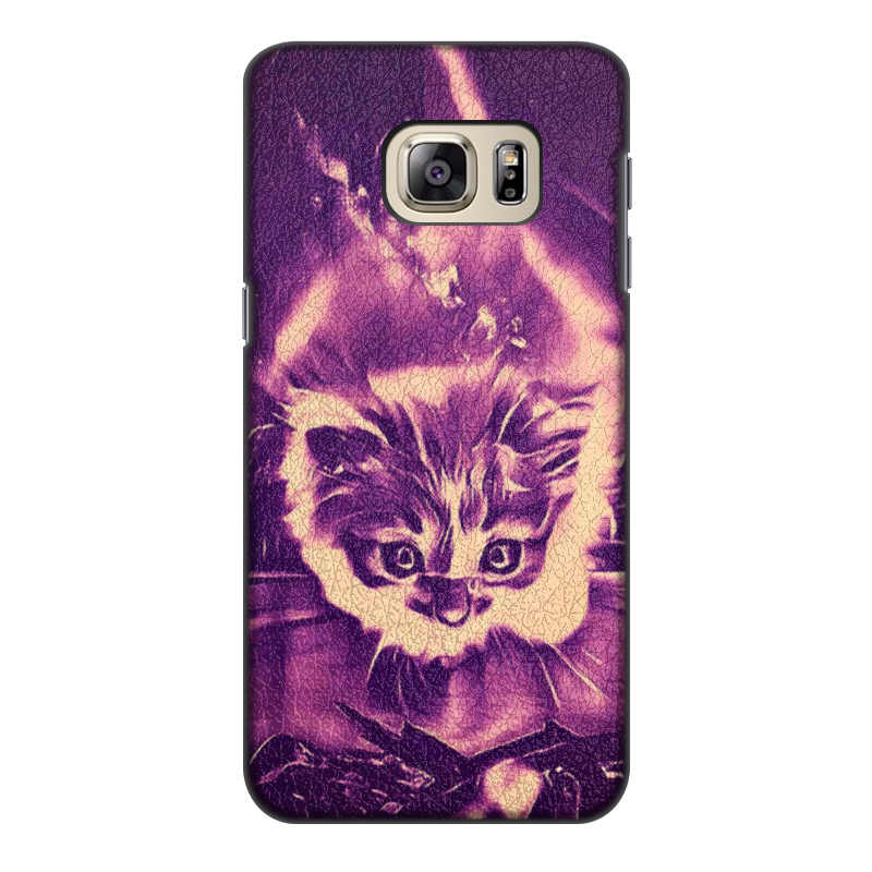 Printio Чехол для Samsung Galaxy S6 Edge, объёмная печать Fire cat printio чехол для samsung galaxy s6 edge объёмная печать свинка