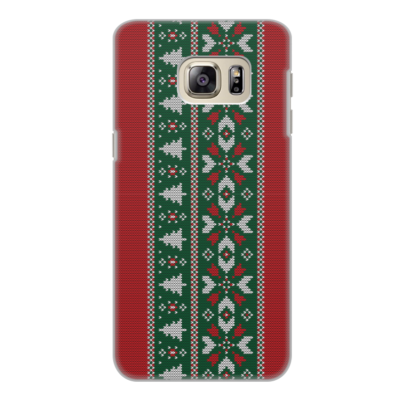 Фото - Printio Чехол для Samsung Galaxy S6 Edge, объёмная печать Новогодние узоры printio чехол для samsung galaxy s6 edge объёмная печать клубничное настроение