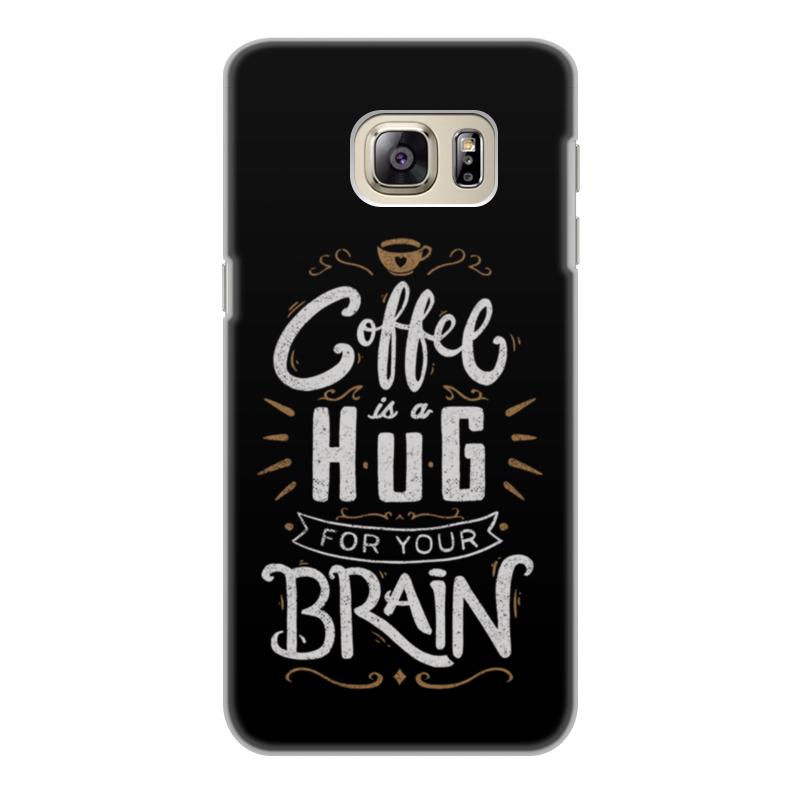 Printio Чехол для Samsung Galaxy S6 Edge, объёмная печать Кофе для мозга printio чехол для samsung galaxy s6 edge объёмная печать свинка