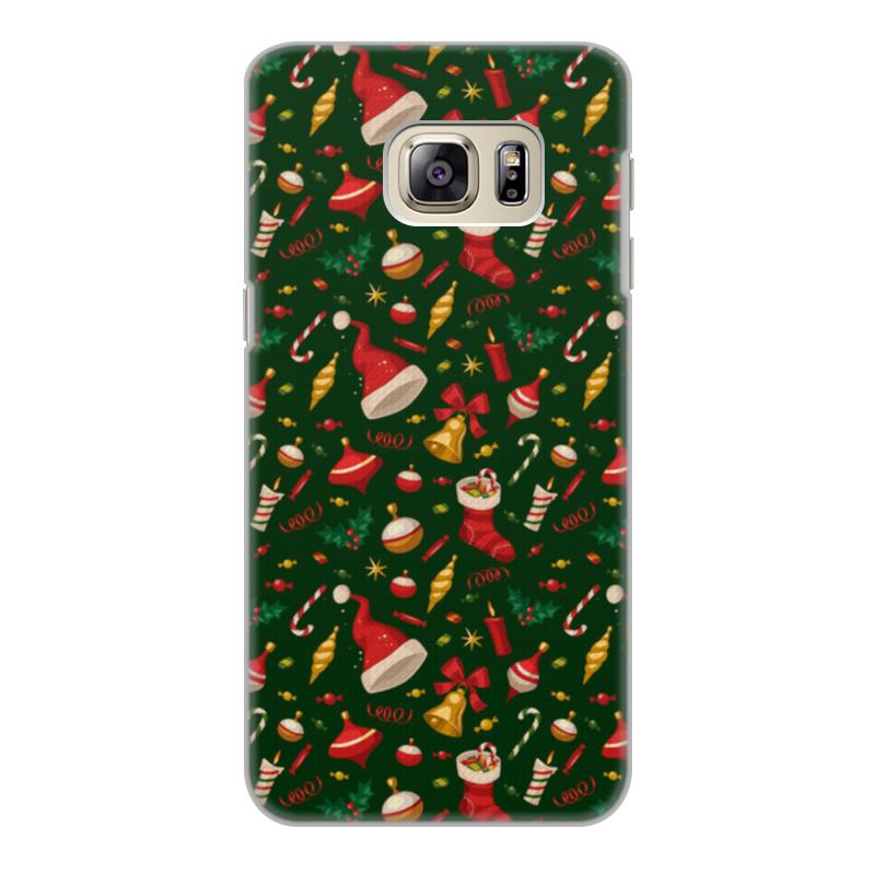 Фото - Printio Чехол для Samsung Galaxy S6 Edge, объёмная печать Новогодние праздники printio чехол для samsung galaxy s6 edge объёмная печать клубничное настроение