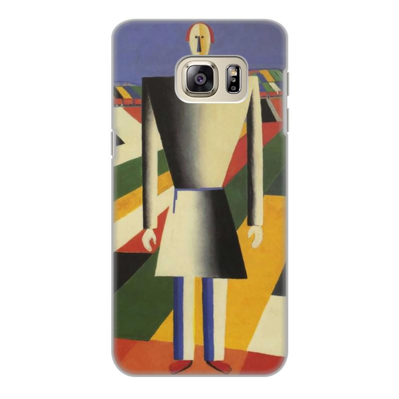 Printio Чехол для Samsung Galaxy S6 Edge, объёмная печать Крестьянин в поле (казимир малевич)