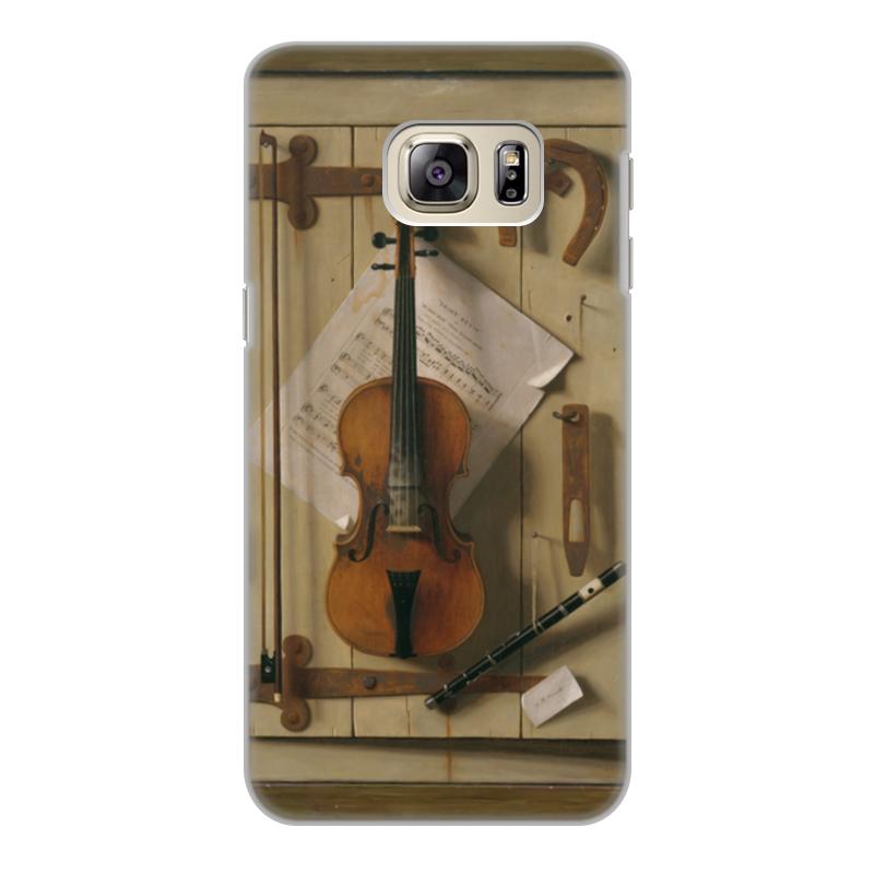 Printio Чехол для Samsung Galaxy S6 Edge, объёмная печать Натюрморт со скрипкой (уильям харнетт)