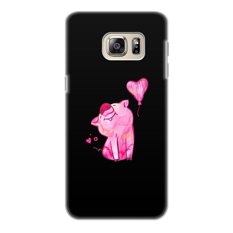 Printio Чехол для Samsung Galaxy S6 Edge, объёмная печать Свинка printio чехол для samsung galaxy s6 edge объёмная печать свинка