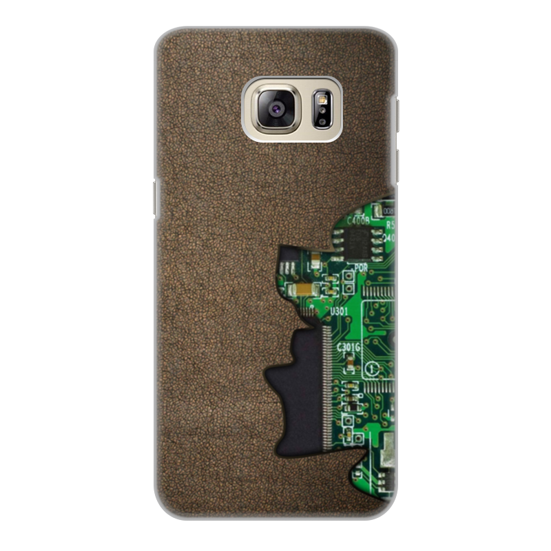 Фото - Printio Чехол для Samsung Galaxy S6 Edge, объёмная печать Внутренний мир телефона (микросхема). printio чехол для samsung galaxy s6 edge объёмная печать клубничное настроение